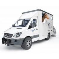 Игрушка Bruder Mercedes Sprinter фургон с лошадью (02533)