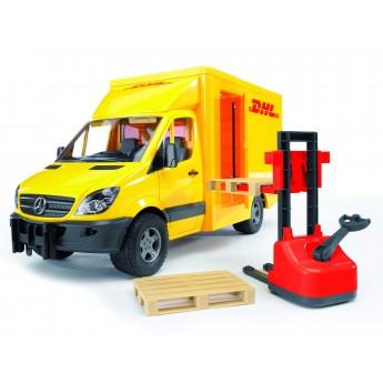 Іграшка фургон Mercedes Sprinter DHL з навантажувачем Bruder 02534