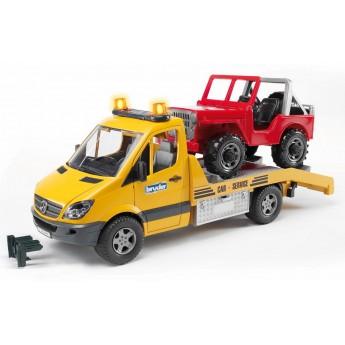 Іграшка евакуатор Mercedes Benz Sprinter з джипом Bruder 02535