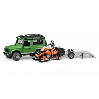 Джип Land Rover и снегоход Bruder (02594)