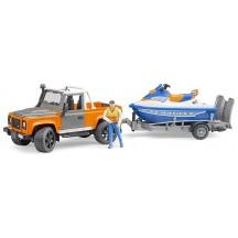 Игрушка Bruder джип Land Rover с прицепом и водным скутером (02599)