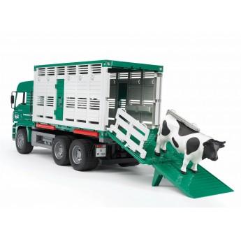 Іграшка фургон MAN для перевезення тварин з коровою Bruder 02749