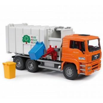 Іграшка сміттєвоз MAN з бічним завантаженням Bruder 02761