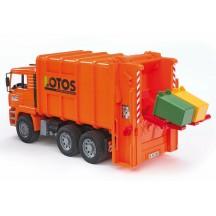 Игрушка Bruder мусоровоз MAN с задней загрузкой (02762)