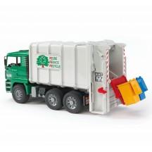 Игрушка Bruder мусоровоз MAN с задней загрузкой, зеленый (02764)