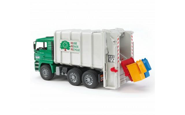 Іграшка сміттєвоз MAN із заднім завантаженням Bruder 02764