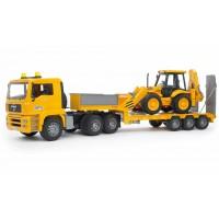 Іграшка тягач MAN з екскаватором JCB 4CX Bruder 02776