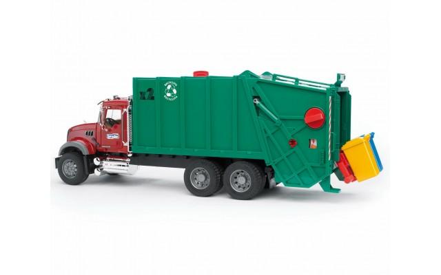 Іграшка сміттєвоз MACK із заднім завантаженням Bruder 02812
