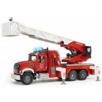 Игрушка Bruder пожарная машина MACK с выдвижной лестницей и помпой (02821)
