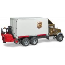 Машинка Bruder логістичний фургон UPS Mack з навантажувачем (02828)