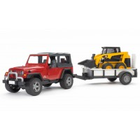 Іграшка позашляховик Wrangler c міні-навантажувачем CAT Bruder 02924