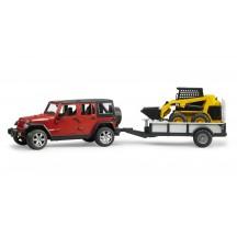 Игрушка Bruder внедорожник Jeep Wrangler Unlimited Rubicon с мини погрузчиком CAT (02925)