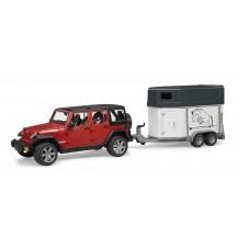 Іграшка позашляховик JEEP WRANGLER з коневозкою і конем Bruder 02926