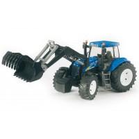 Игрушка Bruder трактор New Holland T8040 с погрузчиком (03021)
