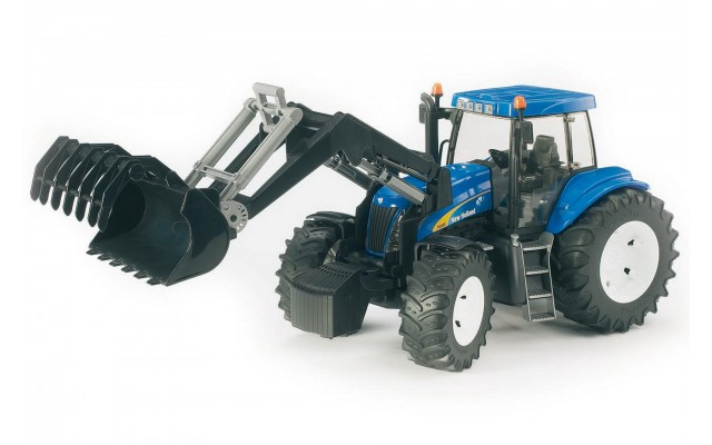 Игрушка Bruder трактор New Holland T8040 с погрузчиком (03021)