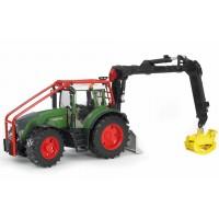 Игрушка Bruder трактор Fendt 936 Vario лесной с манипулятором (03042)