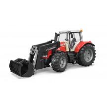 Іграшка трактор з навантажувачем Massey Ferguson 7624 Bruder 03047