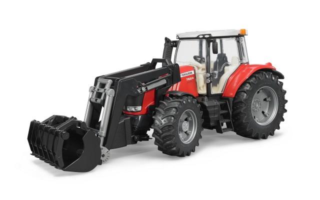 Игрушка Bruder трактор Massey Ferguson 7624 с погрузчиком (03047)