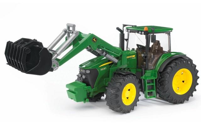 Игрушка Bruder трактор John Deere 7930 с погрузчиком (03051)