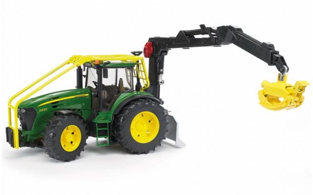 Игрушка Bruder трактор John Deere 7930 лесной с манипулятором (03053)