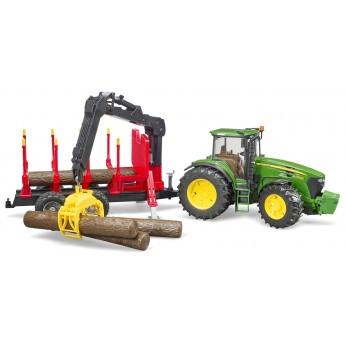 Игрушка Bruder трактор John Deere 7930 с лесным прицепом и манипулятором (03054)