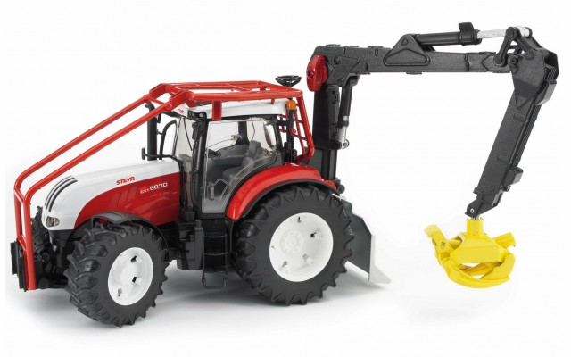 Игрушка Bruder трактор Steyr CVT 6230 лесной с манипулятором (03092)