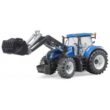 Игрушка Bruder трактор New Holland T7.315 с погрузчиком (03121)