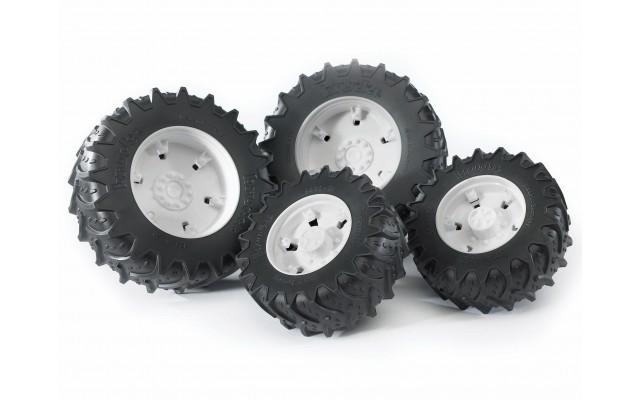 Колеса с белыми дисками к тракторам серии 3000 Bruder (03311)