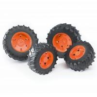 Колеса з помаранчевими дисками до тракторів серії 3000 Bruder 03312