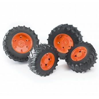 Колеса с оранжевыми дисками к тракторам серии 3000 Bruder (03312)