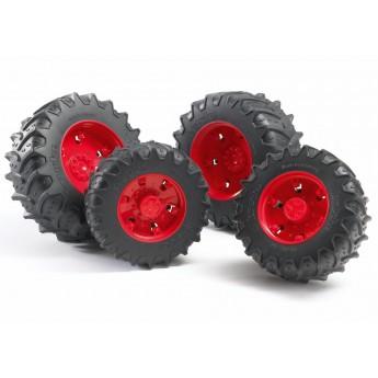 Колеса с красными дисками к тракторам серии 3000 Bruder (03313)