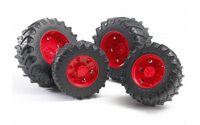 Колеса з червоними дисками до тракторів серії 3000 Bruder 03313