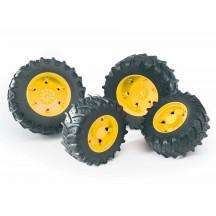 Колеса с желтыми дисками к тракторам серии 3000 Bruder (03314)