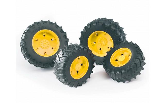 Колеса з жовтими дисками до тракторів серії 3000 Bruder 03314