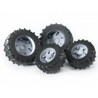 Колеса з сірими дисками до тракторів серії 3000 Bruder 03315