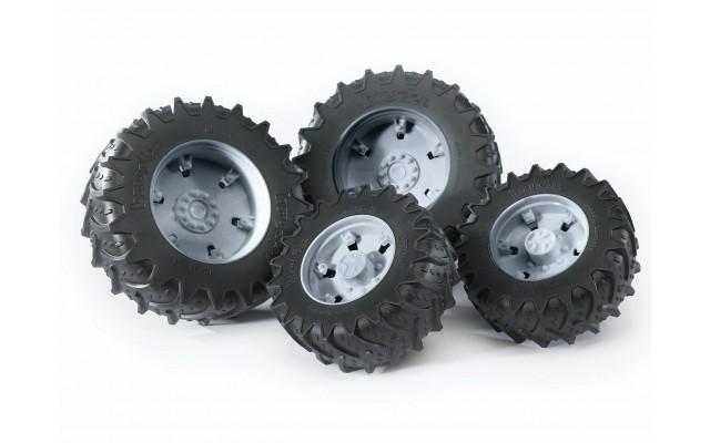 Колеса с серыми дисками к тракторам серии 3000 Bruder (03315)