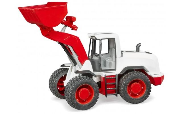Машинка Bruder погрузчик фронтальный колесный бело-красный (03410)
