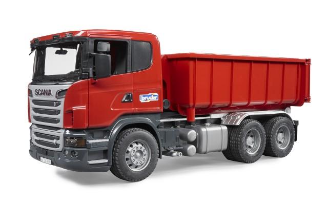 Игрушка Bruder самосвал Scania со съёмным контейнером (03522)