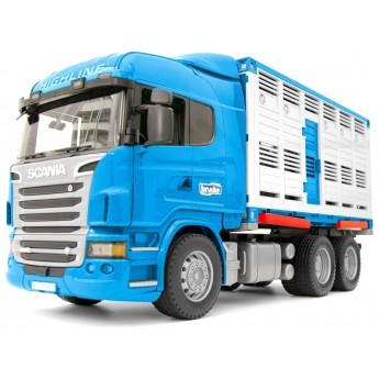 Іграшка Bruder автомобіль для перевезення тварин Scania (03549)