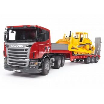 Іграшка тягач Scania з бульдозером CAT Bruder 03555
