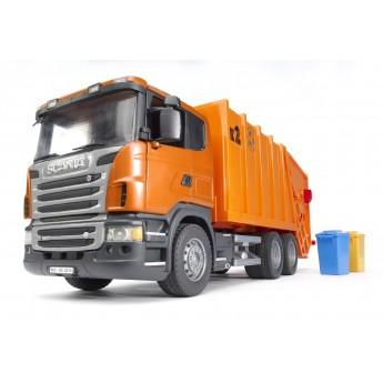 Іграшка сміттєвоз Scania з заднім завантаженням Bruder 03560