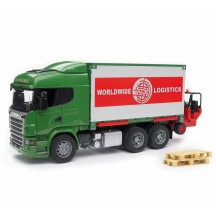 Іграшка фургон Scania з навантажувачем і паллетамі Bruder 03580