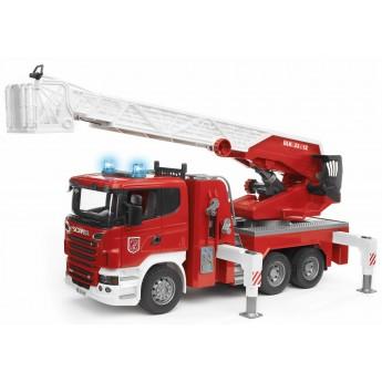 Игрушка Bruder пожарная машина Scania с выдвижной лестницей и помпой (03590)