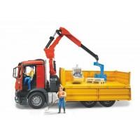 Іграшка самоскид з маніпулятором Mercedes-Benz + корзина і 2 піддони Bruder 03651
