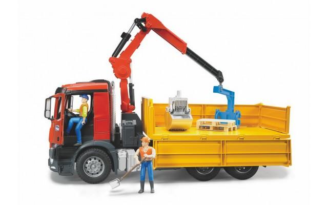 Іграшка вантажівка з маніпулятором Mercedes-Benz + корзина і 2 піддони Bruder 03651