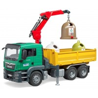 Машинка Bruder грузовик MAN TGS с манипулятором и мусорными контейнерами (03753)