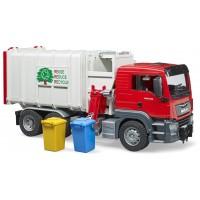 Машинка Bruder мусоровоз Man с боковой загрузкой (03761)