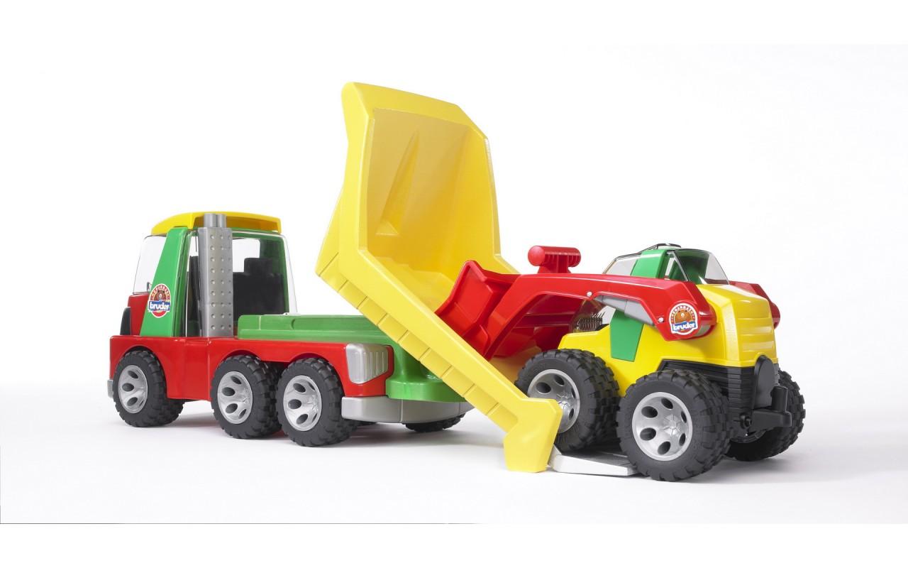 bruder roadmax грузовик с погрузчиком купить