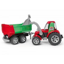 Іграшка трактор з ковшем і причепом Roadmax Bruder 20116