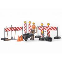 Набір знаків дорожніх робіт з робочим Bruder 62000